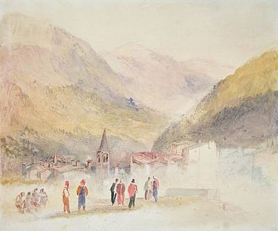 Italian Landscapes Drawing - Pre St Didier, 1836 by Joseph Mallord William Turner