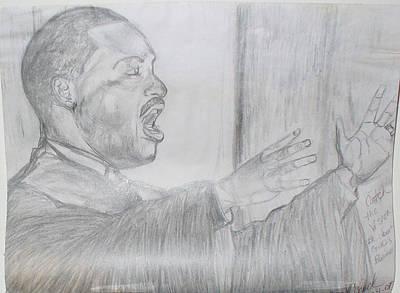 I Still Hear You Preaching  Dr. King  Print by Darlene Ricks- Parker