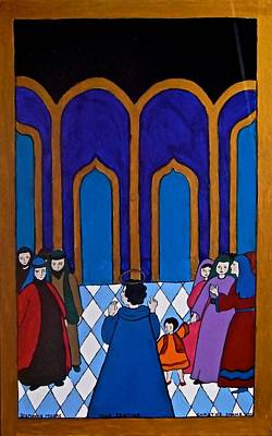 Painting - Preaching In The Synagogue by Stephanie Moore