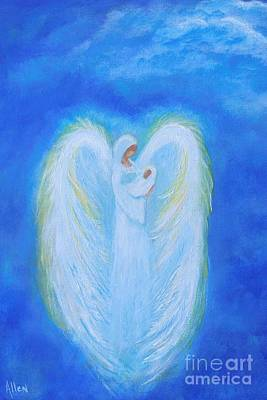 Painting - Precious Baby Angel by Leslie Allen