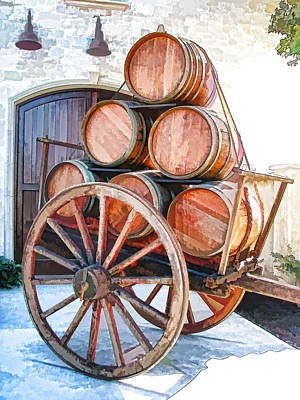 Wine Cart Photograph - Precious Cargo by Samuel Sheats