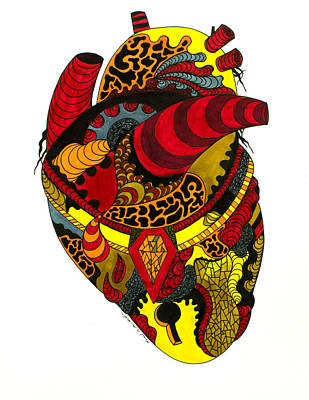 Drawing - Precious Heart by Kenal Louis