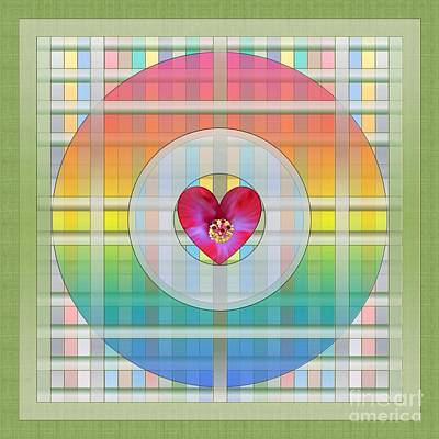 Digital Art - Precious Heart- Rainbow by Darla Wood