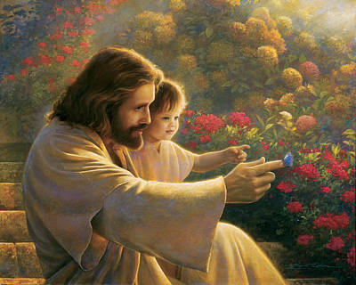With Blue Painting - Precious In His Sight by Greg Olsen
