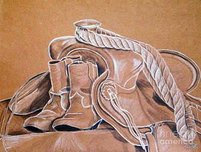 Pastel - Precious Memories Youth Saddle by Dale Jackson