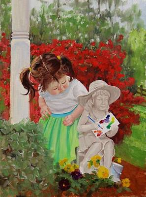 Azalea Painting - Precious Memories Two by Laura Lee Zanghetti