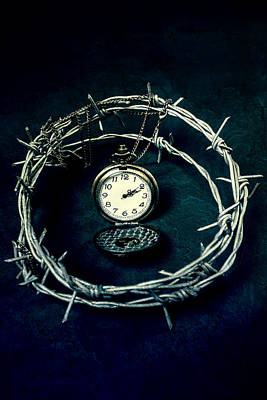 Barbwire Photograph - Precious Time by Joana Kruse