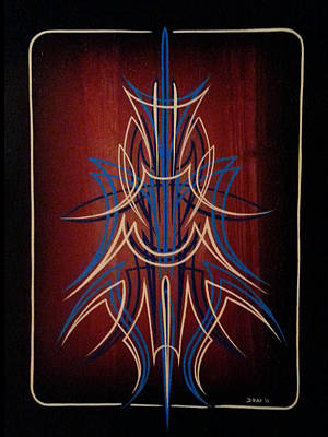 Pinstripes Painting - Precision by Danny Apodaca