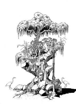 Drawing - Birds by Zorro Lopez