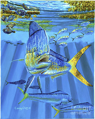 Striped Marlin Painting - Predator Off0067 by Carey Chen