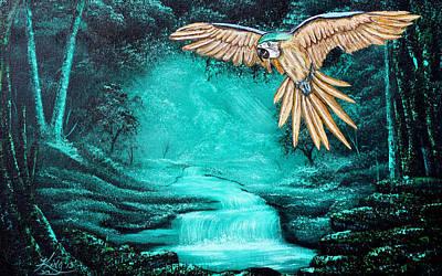 Predator Or Prey Art Print by Russell  King