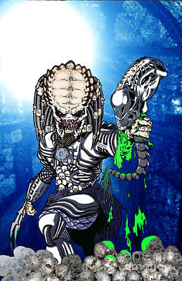Predator Vs Alien To Be Or Not To Be Art Print