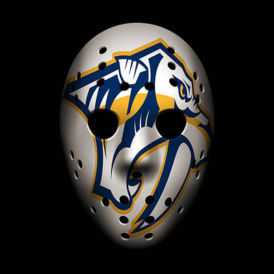 Predators Goalie Mask Art Print by Joe Hamilton