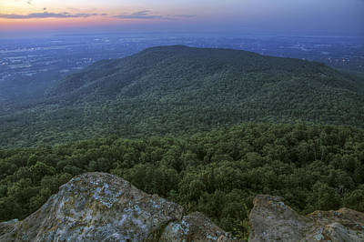Mount Nebo Photograph - Predawn At Sunrise Point From Mt. Nebo - Arkansas by Jason Politte