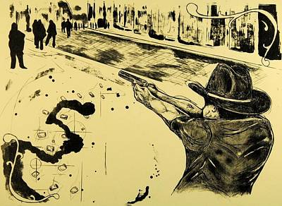 Printmaking Mixed Media - Preemptive Strike by David Honaker