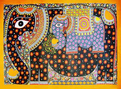 Painting - Pregnant Elephant by Neeraj kumar Jha