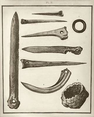 Artefact Photograph - Prehistoric Artefacts by Middle Temple Library