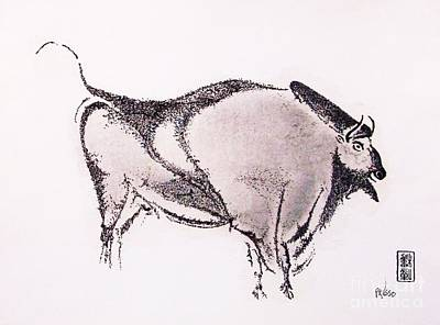 Paleolithic Drawing - Prehistoric Bison by Roberto Prusso