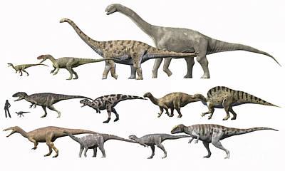 Prehistoric Era Dinosaurs Of Niger Print by Nobumichi Tamura