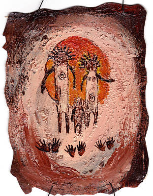 Painting - Prehistoric Family by Shelley Bain