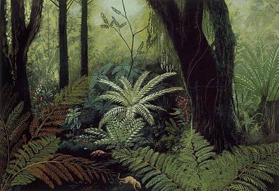 Prehistoric Forest Art Print