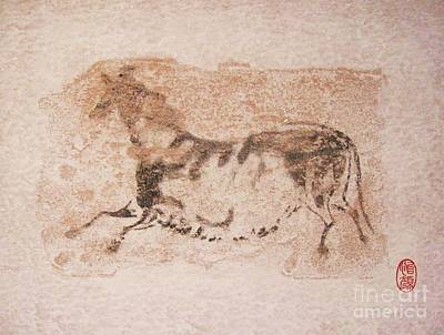 Cave Art Drawing - Prehistoric Horse by Roberto Prusso