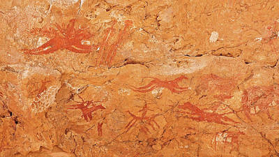 Sahara Photograph - Prehistoric Rock Paintings by Thierry Berrod, Mona Lisa Production