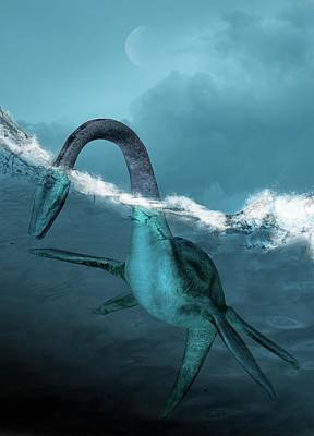Sea Creature Photograph - Prehistoric Sea Creature by Victor Habbick Visions