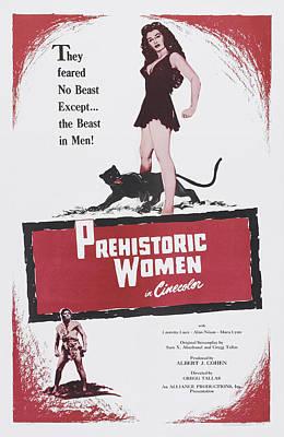 1950 Movies Photograph - Prehistoric Women, Us Poster Art, 1950 by Everett