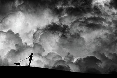 Dog Walking Photograph - Prelude To The Dream by Hengki Lee