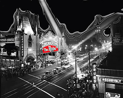 Premier Of The Robe 1953 Grauman's Chinese Theater Los Angeles Ca 1953-2012 Art Print