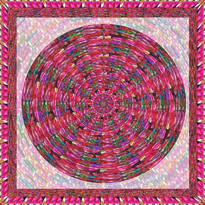 Mixed Media - Premium Energy Field Chakra Goodluck Decorations Ethnic Pink Purple Art For Yoga Meditation Healing  by Navin Joshi