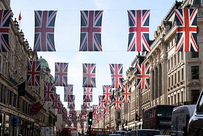 Photograph - Preparations For Royal Wedding Of Harry by Leon Neal