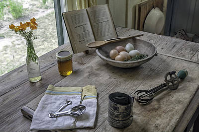 Preparing Dinner With Marjorie  Print by Lynn Palmer