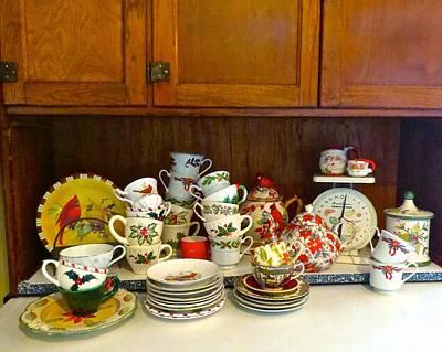 Photograph - Preparing For Tea Time  by Nancy Patterson