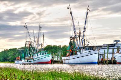 Shrimpboats Wall Art - Photograph - Preparing The Nets by Scott Hansen