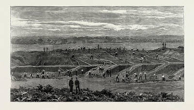Preparing The New Wimbledon, Uk, 1889 Bisley Common Print by Litz Collection