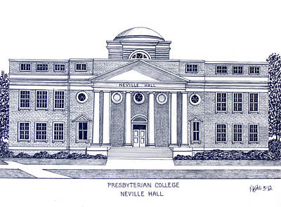 Drawing - Presbyterian College by Frederic Kohli