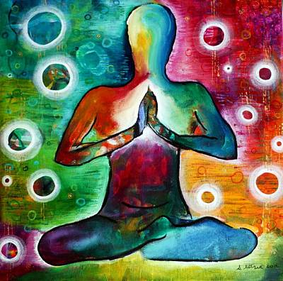 Yoga Pose Painting - Presence And Peace  by Stephanie Estrin