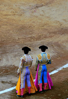 Presence Of The Bullfighters Art Print by Laura Jimenez