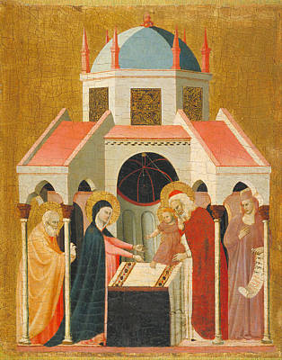 Presentation Painting - Presentation Of Jesus At The Temple by Master of the Cini Madonna