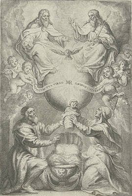 Immaculate Drawing - Presentation Of The Blessed Virgin Mary, Philip Fruytiers by Philip Fruytiers