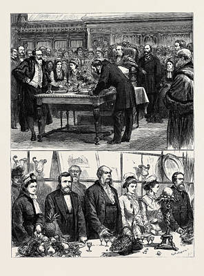 Us Grant Drawing - Presentation Of The Freedom Of The City To General U by English School