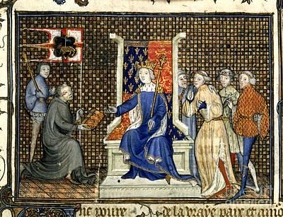 Presentation To Richard II Print by British Library