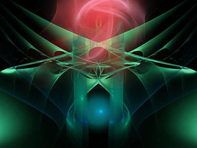 Digital Art - Presenting A Rose by Elizabeth S Zulauf