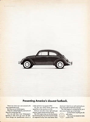 Vintage Advert Digital Art - Presenting America's Slowest Fastback by Georgia Fowler