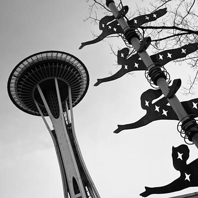 Photograph - Presenting The Space Needle by Sonya Lang