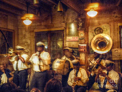 Digital Art - Preservation Hall Band by Valerie Reeves