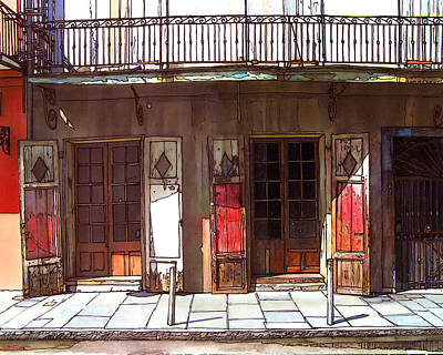 Garden District Painting - Preservation Hall Doors 370 by John Boles