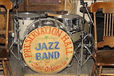 Photograph - Preservation Hall Jazz Band Drum by Bradford Martin